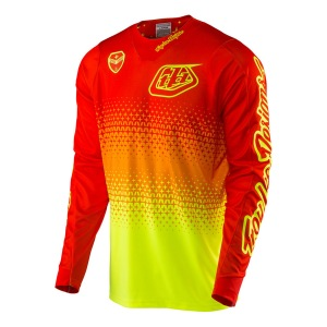 Pánský dres TroyLeeDesigns SE AIR Jersey Starburst Flo Yellow Orange 2017