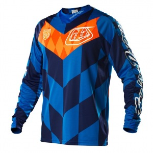 Pánský dres TroyLeeDesigns SE Checker Jersey Blue 2015