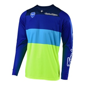 Pánský dres TroyLeeDesigns SE Jersey BETA Flo Yellow Blue 2019