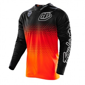 Pánský dres TroyLeeDesigns SE Jersey Starburst Flo Orange Black 2016