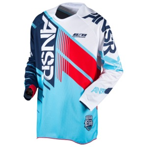 Pánský MX dres ANSWER Elite Jersey Blue Red 2017
