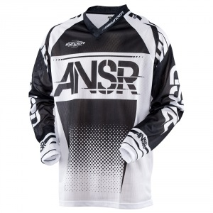 Pánský MX dres ANSWER Syncron Air Jersey Black White 2017