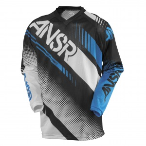 Pánský MX dres ANSWER Syncron Air Jersey White Black Cyan 2017