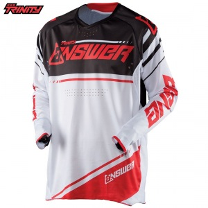Pánský MX dres ANSWER Trinity Jersey White Red 2018