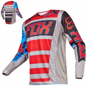 Pánský MX dres FOX 180 Falcon Jersey Grey Red 2017