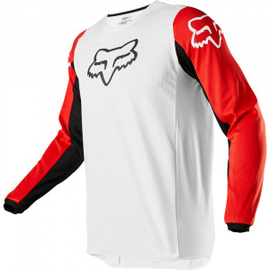 Pánský MX dres FOX 180 Prix Jersey White Black Red 2020