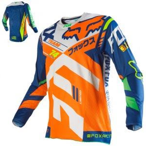 Pánský MX dres FOX 360 Divizion Jersey Orange Blue 2016