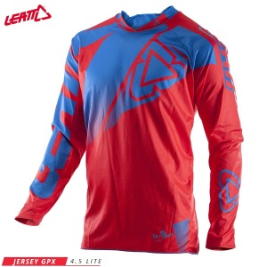 Pánský MX dres LEATT GPX 4.5 Lite Jersey Red Blue 2017