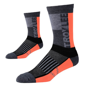 Ponožky na kolo TroyLeeDesigns Performance Crew Sock Block Orange