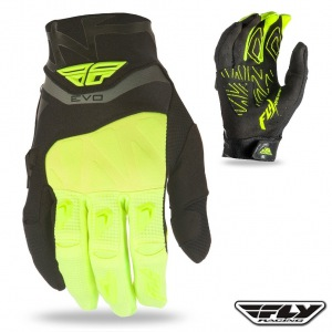 Rukavice FLY Evolution Glove Black Flo Yellow 2016
