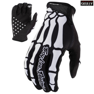 Rukavice TroyLeeDesigns AIR Glove Skully Black White 2020