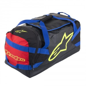 Taška na výstroj Alpinestars Goanna Duffle Bag Black Blue Red Yellow Flo