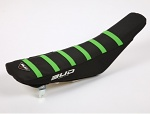 Potah sedla BudRacing Seat Cover FullTraction Kawasaki KX250F KX450F Black Green Stripes