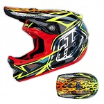 Downhill helma TroyLeeDesigns D3 Carbon Helmet Speeda Yellow