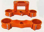 Kompletní brýle BudRacing Triple Clamps KTM SX85 Orange
