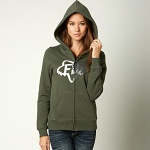 Dámská mikina FOX Girls Changing Zip Hoody Military