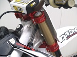 Kompletní brýle BudRacing Triple Clamps Honda CRF450R 13-.. CRF250R 14-.. Red