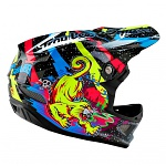 Downhill helma TroyLeeDesigns D3 Carbon Helmet Blacklight Black 2016