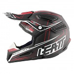 MX helma Leatt GPX 6.5 Carbon Red Grey White