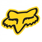 "Nálepka FOX Racing Head Sticker 4"" Yellow"