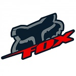 "Nálepka FOX Racing Blitz Sticker 4"" Black Red"