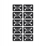 Nálepka FOX Racing Mini Skulls Stickers Sheet Black