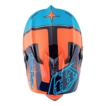Downhill helma TroyLeeDesigns D3 Carbon Helmet MIPS Starburst Orange 2017