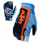 MX rukavice TroyLeeDesigns KTM Team AIR Glove Navy Cyan 2019