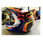 MX helma FOX V3 Kustm Helmet Black Yellow 2018