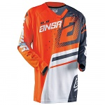 Pánský MX dres ANSWER Elite Jersey Orange Grey 2018