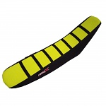 Potah sedla CrossX Seat Cover Stripes Suzuki RMZ450 18-.. Yellow Black Black