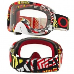 MX brýle Oakley O2 MX Mosh Pit Red Yellow