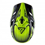 MX helma ANSWER AR-1 Edge Helmet Black Hyper Acid 2019