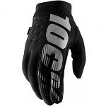 Zateplené rukavice 100% Brisker Glove Black Grey