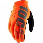 Zateplené rukavice 100% Brisker Glove Fluo Orange Black