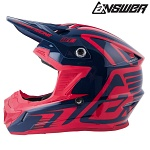 MX helma ANSWER AR-1 Edge Helmet Midnight Bright Red 2019