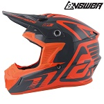 MX helma ANSWER AR-1 Edge Helmet Charcoal Flo Orange 2019