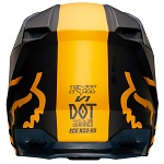 MX helma FOX V1 Mata Helmet Navy Yellow 2019