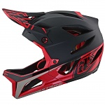 Enduro helma TroyLeeDesigns Stage Race Helmet Black Red 2019