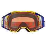 MX brýle Oakley Airbrake Prizm MX Thermo Camo Orange Blue Goggle