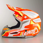 MX helma Leatt GPX 5.5 Composite Orange Yellow White