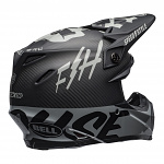 MX helma BELL Moto-9 Carbon FLEX Fasthouse WRWF Black White Grey 2020