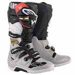 Boty na motokros Alpinestars TECH 7 Boot Black Silver White Gold 2020