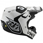 MX helma TroyLeeDesigns SE4 Composite Skully White Black 2020 + brýle zdarma