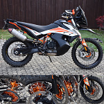 Sada kol HaanWheels KTM Adventure 790 - Excel Black 21x1,85 + 18x2,50 / Orange Hub
