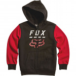 Dětská mikina FOX Youth Highway Sherpa Hoody Black Red