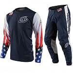 MX komplet TroyLeeDesigns GP Liberty Navy White Set 2020