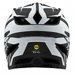 Downhill helma TroyLeeDesigns D4 Carbon Helmet MIPS Slash Black White 2020