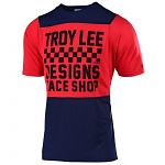 Dětský dres na kolo TroyLeeDesigns Skyline Youth Jersey Checkers Navy Red 2019