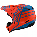 MX helma TroyLeeDesigns GP Helmet Silhouette Orange Cyan 2020